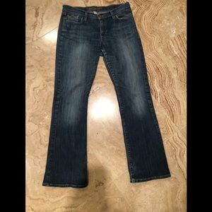 Abercrombie and Fitch stretch boot cut jeans.
